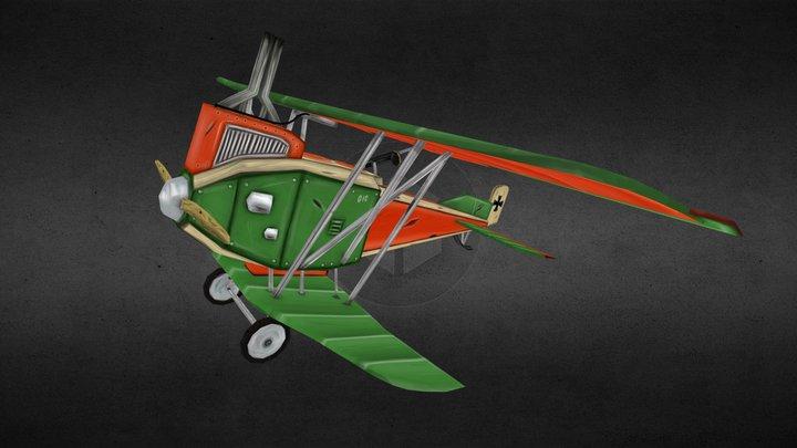Stylized Junkers J 1 - Low poly 3D Model