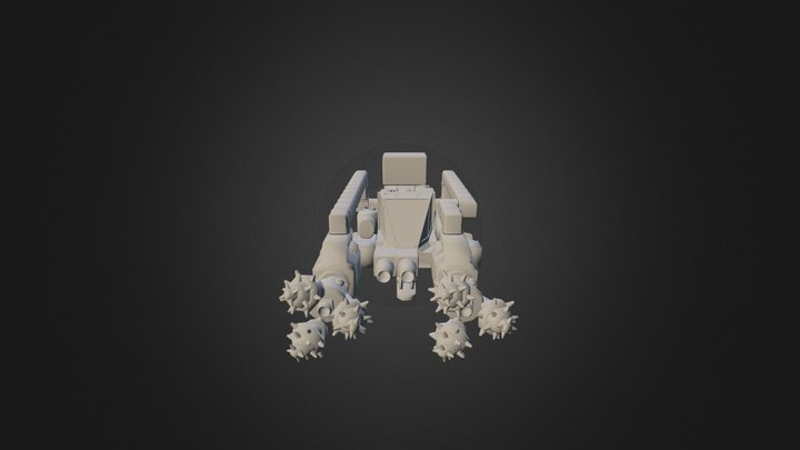 Space engineers mining ship 3D Model