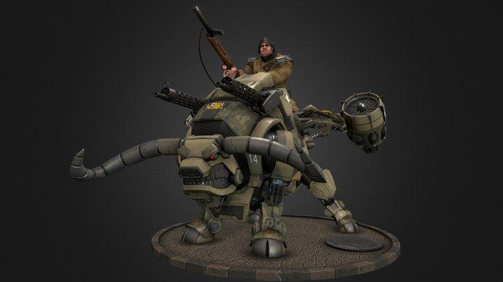 Brutal Ulrich Bull Rider 3D Model