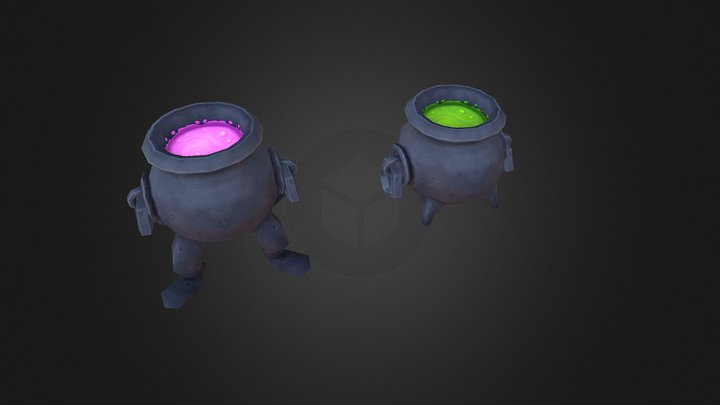 Witch's Cauldrons [Animated] 3D Model