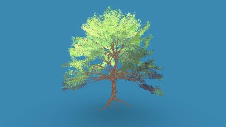 Anime Big Oak Tree high poly 3D Model