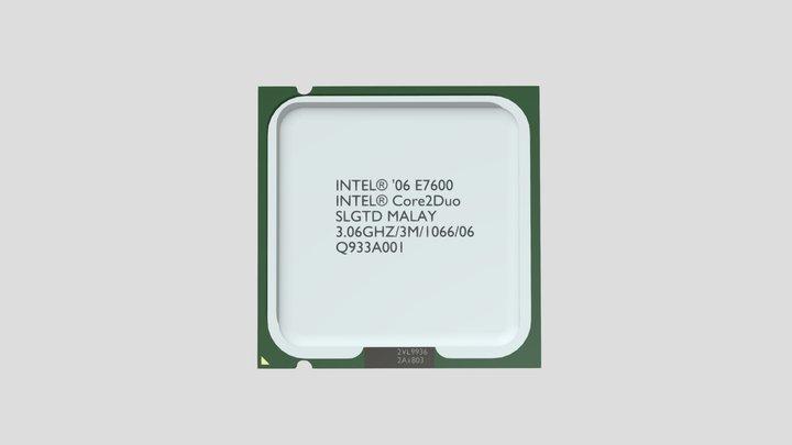 INTEL Core2Duo E7600 LGA775 3D Model