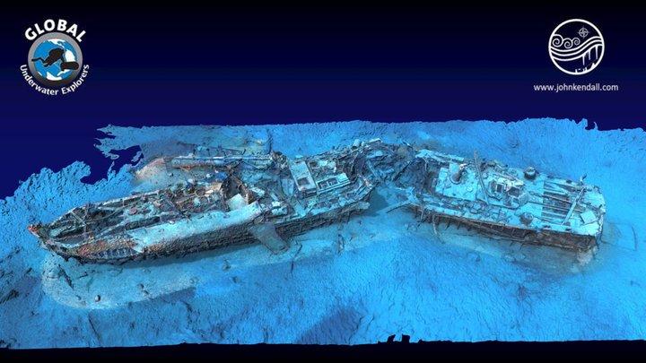 Schnellboot S31 Shipwreck 3D Model