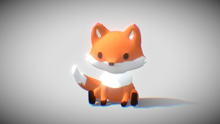 Cute Fox 3D Model