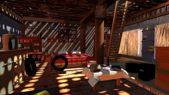 Desert Cabin_Original 3D Model