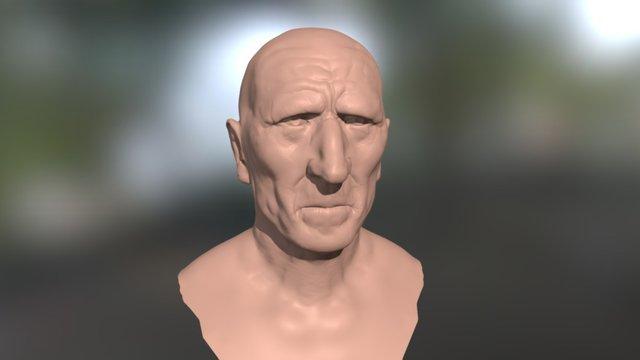 human bust sculpt 3D Model