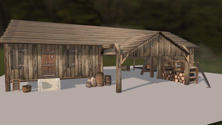 Old Saw Mill 3D Model