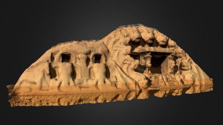 Tiger Cave Mahabalipuram, Tamil nadu India 3D Model