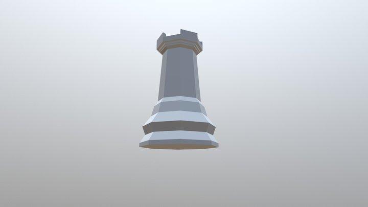 Low Poly Rook 3D Model
