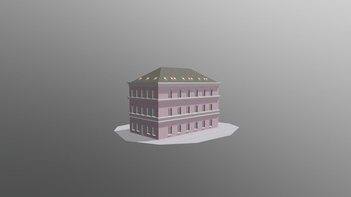 Example of czech building types 3D Model