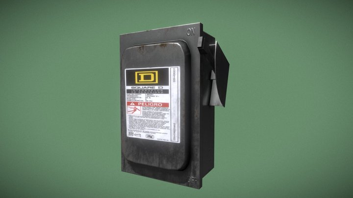 Fuse Safety Switch 3D Model