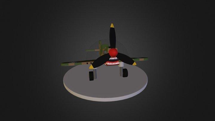 P-40 Toy Model 3D Model