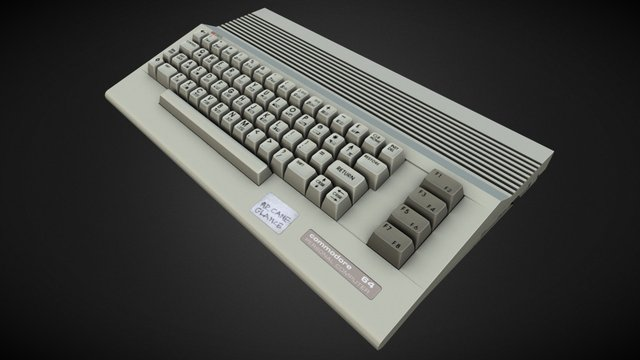 Commodore 64C (Game ready) 3D Model
