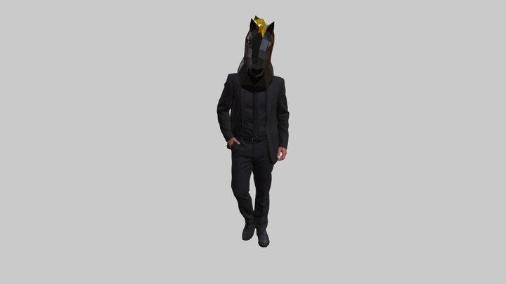 Mask Horse-man 3D Model