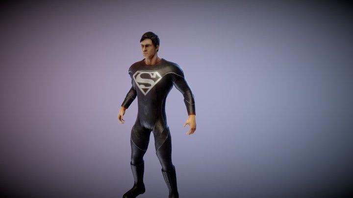 Superman Black Suit 3D Model