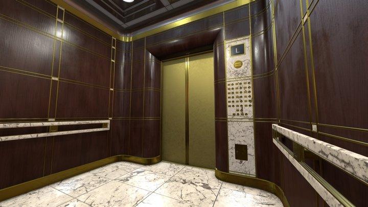 Elegant Elevator 3D Model