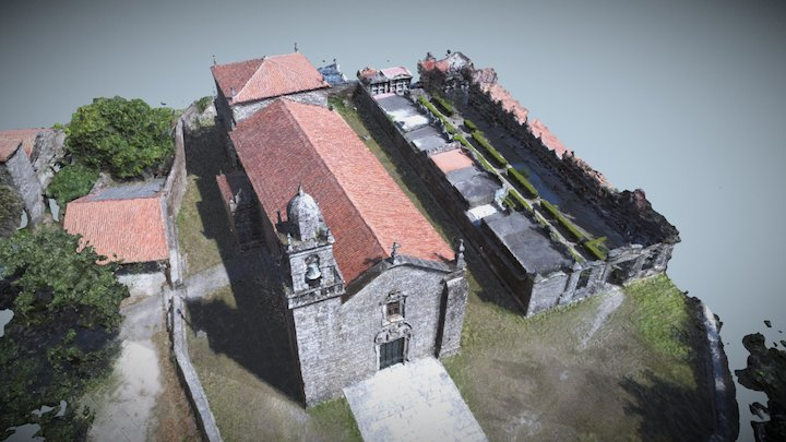 Santo André de Xeve. Pontevedra 3D Model