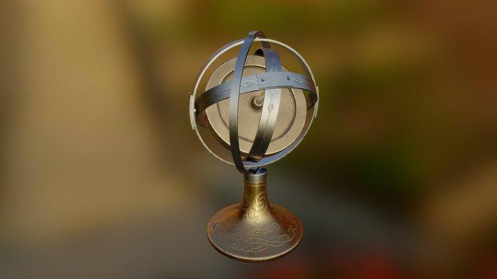Gyrocompass 3D Model