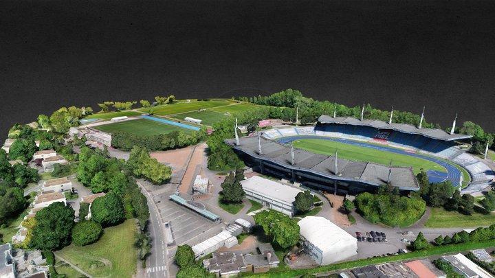 Villeneuve d'Ascq - Stadium Lille Métropole 3D Model