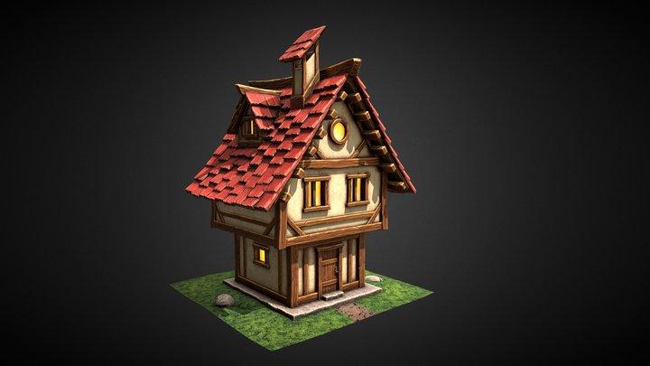 """Stylized House"" 3D Model"