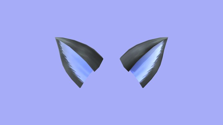 Blue Cat ears Cause I was bored 3D Model