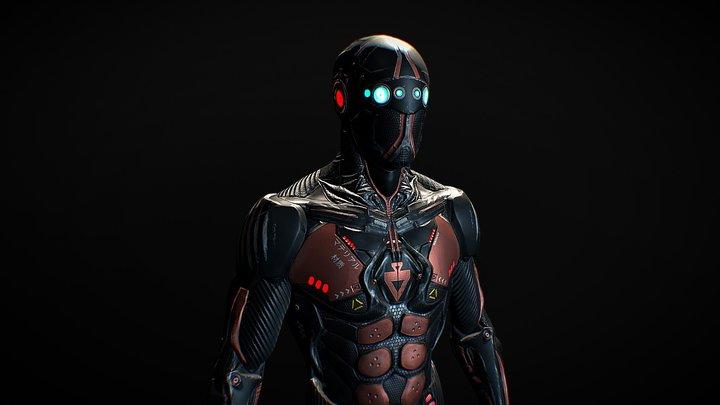 Sci- Fi Ninja PBR 3D Model