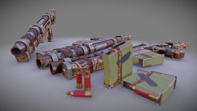 Proxy Rifles 3D Model
