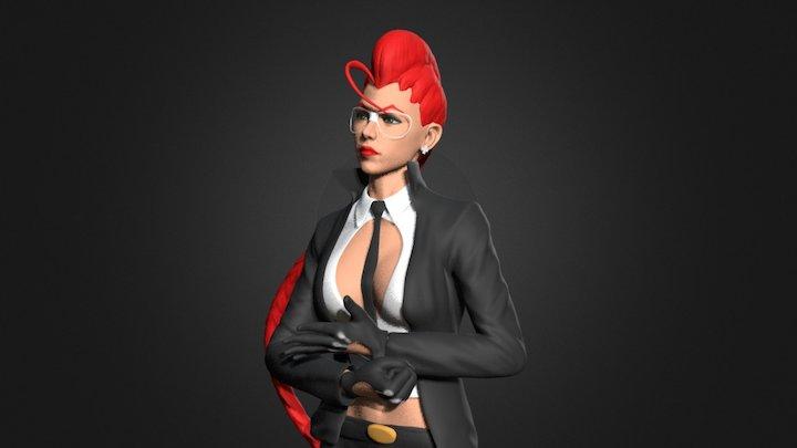 Street Fighter-C.viper fan art 3D Model
