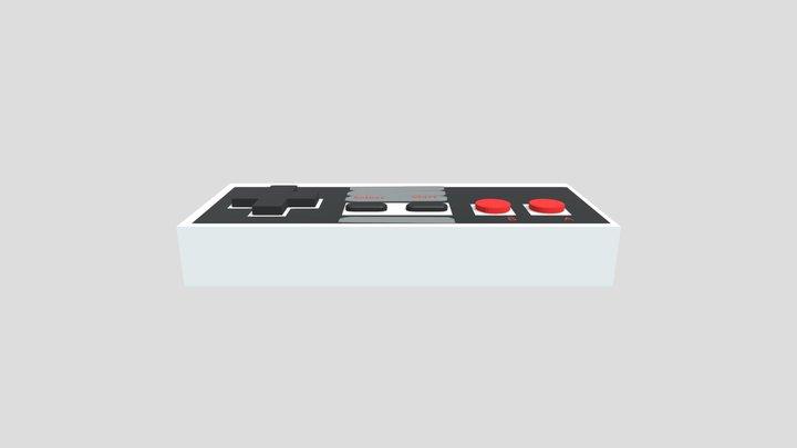 3D Sketchbook 1- NES Controller #2 3D Model