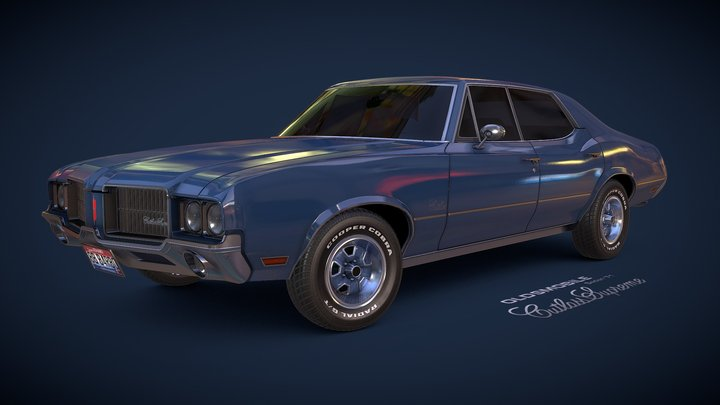 Oldsmobile Cutlass Supreme Sedan '71 3D Model