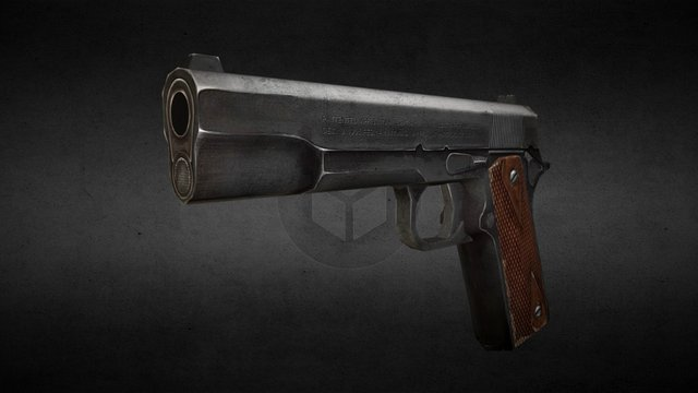 old school colt m1911 3D Model