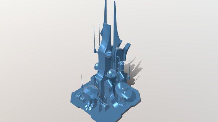 Lunar Command Base Yuri's Revenge 3D Model