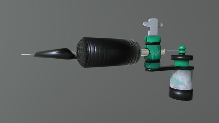 Tattoo Gun 3D Model