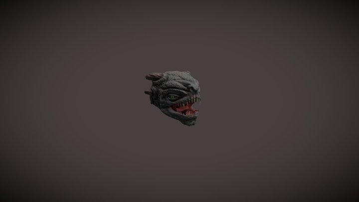 Reptile creature head 3D Model