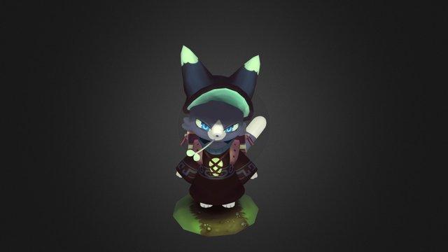 Cat Mage 3D Model