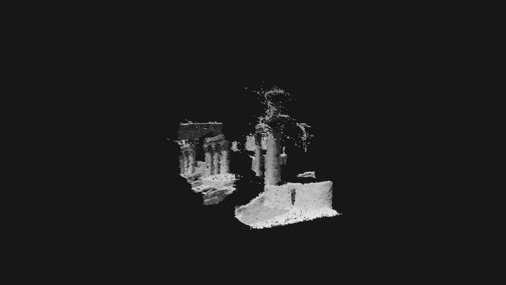 Capitals of pillars in Temple of the Sun 3D Model