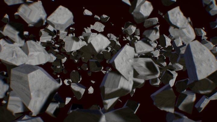 Ryugu asteroid [explosion] 3D Model