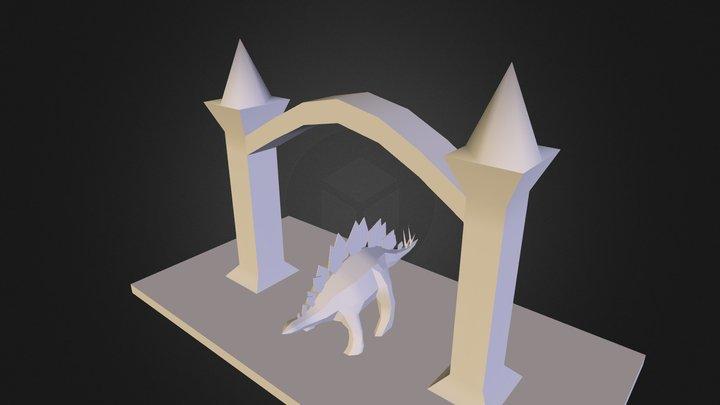 Stegodinoman 3D Model