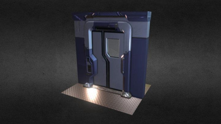 Sc-Fi Door 3D Model
