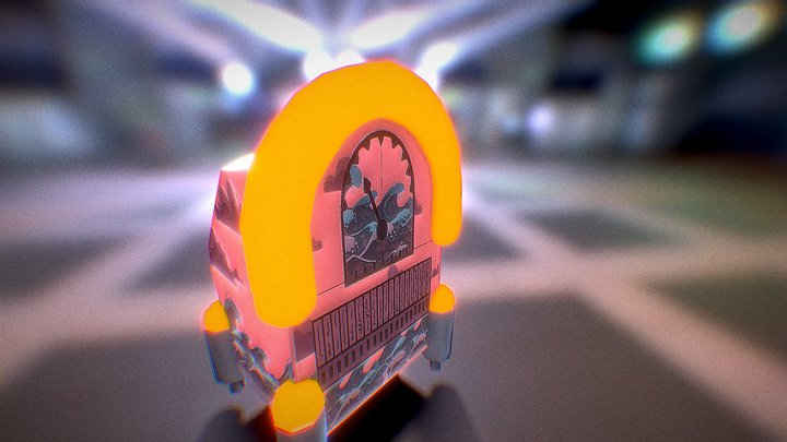 Prop JukeBox 3D Model