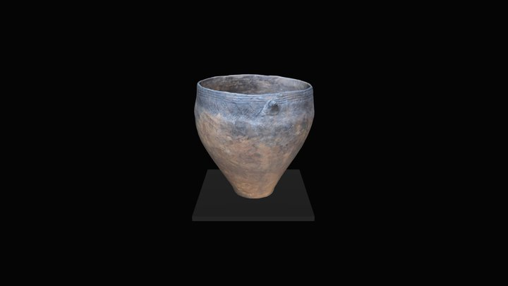 Stone Age pot from Nida 3D Model