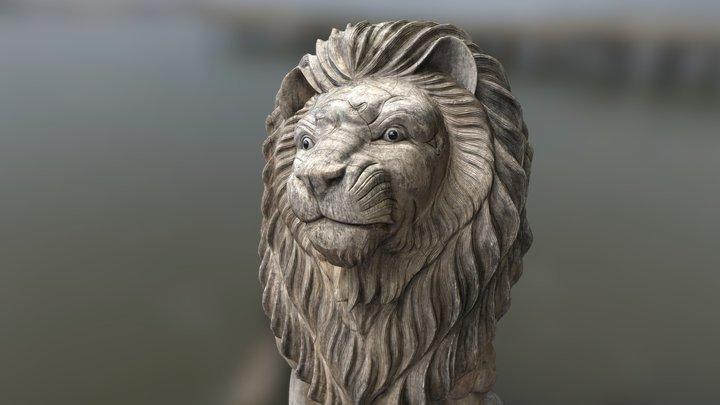 Wooden Lion 3D Model