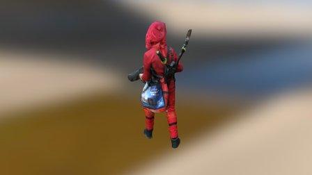 Lil Deadpool 3D Model