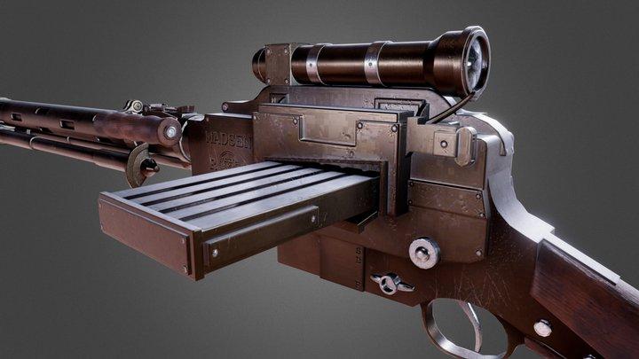 Custom Madsen LMG 3D Model
