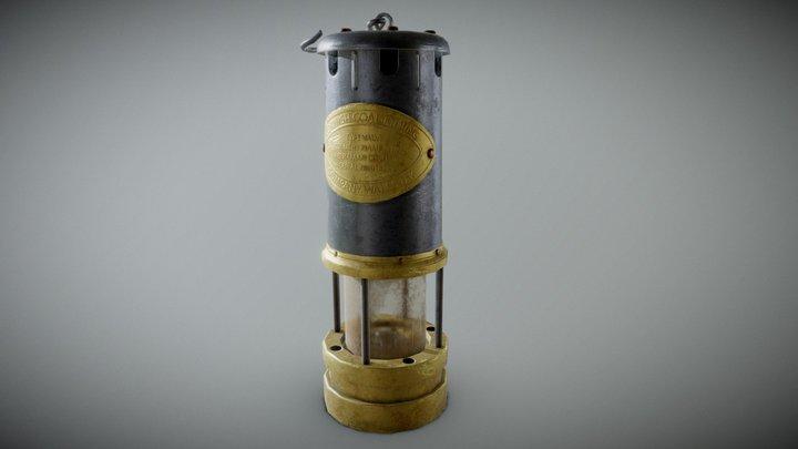 Cornish Mining Lamp 3D Model
