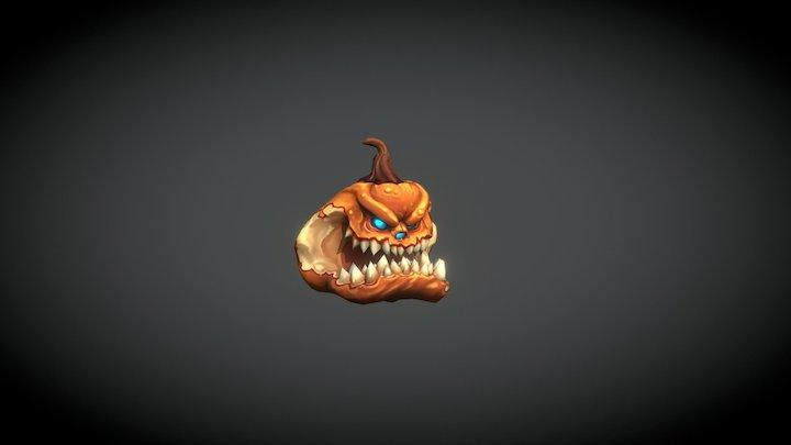 Pumpkin Creature 3D Model