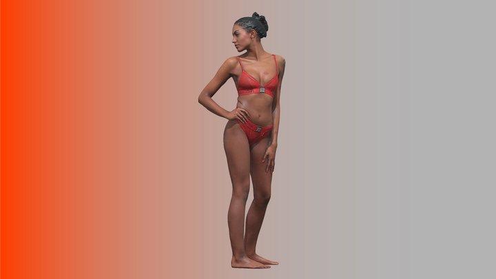 Cleaned Raw 3D Body scan of Adelle 3D Model
