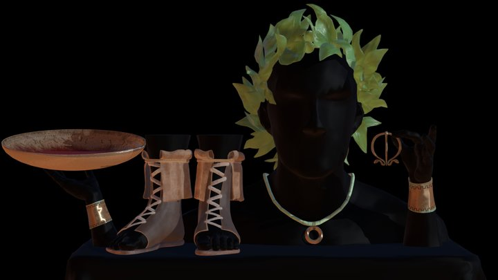 Ancient Roman accessories 3D Model