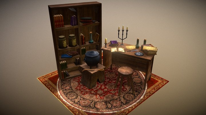 Witch Lab 3D Model