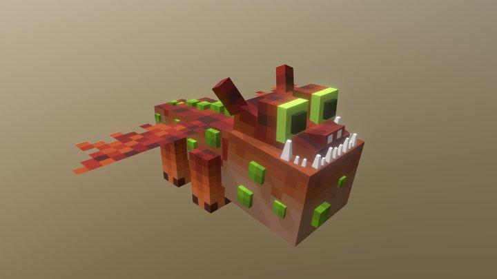 Gronckle Dragon Minecraft 3D Model